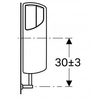 AP140 cassetta esterna +Curva risciacquo bianca 140.301.11.1 - Cassette di risciacquo