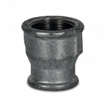 """MANICOTTO RIDOTTO F/F 1/2""""x1/4"""" GHISA ZINCATO 240102104 - In acciaio zincato filettati"""