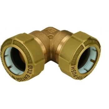 Giunto a gomito per collegare due tubi in polietilene, materiale in ottone OT58. Ø pe: 50 - Filetto: 50 01080008P - Meccanici...