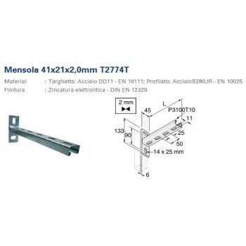 MENSOLA L.300mm ACCIAIO INOX P2774T3005 - Collari/Staffe/Mensole