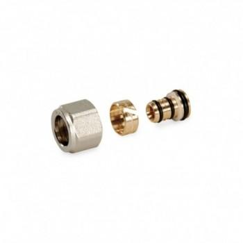 TP96 Raccordo a compressione per tubo in polietilene multistrato PEX-AL-PEX, filetto G1/2. Misura Ø16x2 67871612 - Meccanici ...