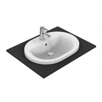 Ideal Standard CONNECT lavabo ovale da incasso soprapiano 48 cm, monoforo, con troppopieno, colore bianco E503801 - Lavabi e ...