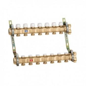 """663 collettore premonato diam. 1.1/4"""" 6 derivazioni diam. 3/4""""M 6637F5 - Collettori per pannelli radianti"""