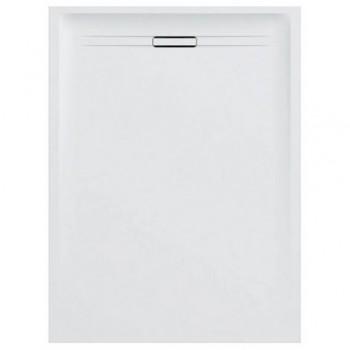 Geberit SESTRA piatto doccia rettangolare L.80 P.100 cm, colore bianco finitura effetto pietra 550.252.00.1 - Piatti doccia