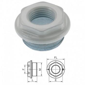 "100-V Riduzione VERN. FL. ø48 ø1""x3/4"" SX 0100V8100034S - Tappi/Riduzioni per radiatori"