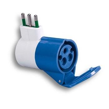 Adattatore industriale spina italiana 2P+T 16A, presa 2P+T 16A 200-250V 73000