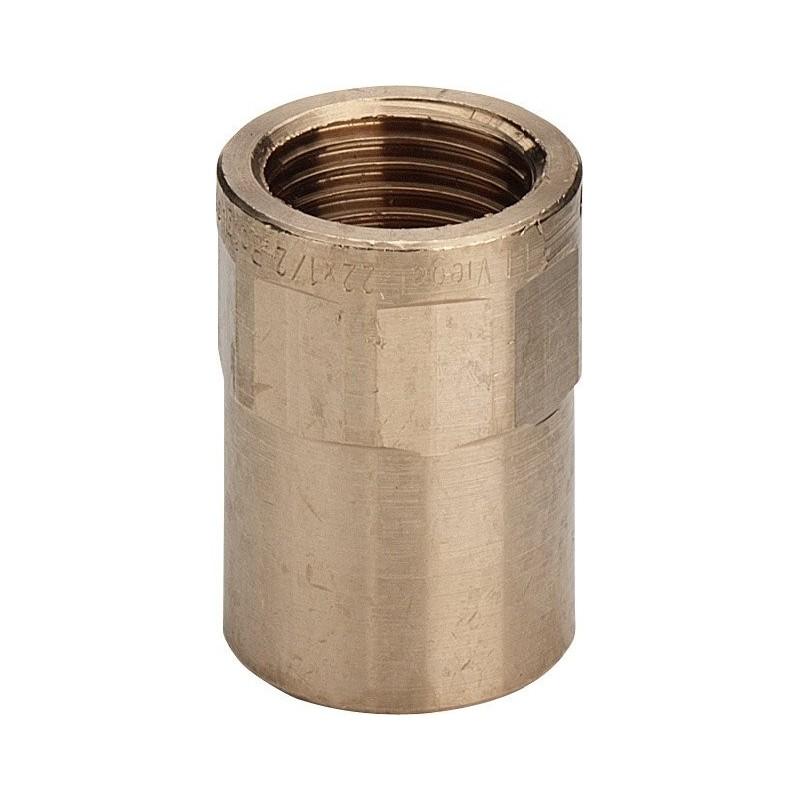 "94270G nipple filettatura Rp ø22x3/4""F bronzo a saldare 100728 - A saldare per tubo rame"