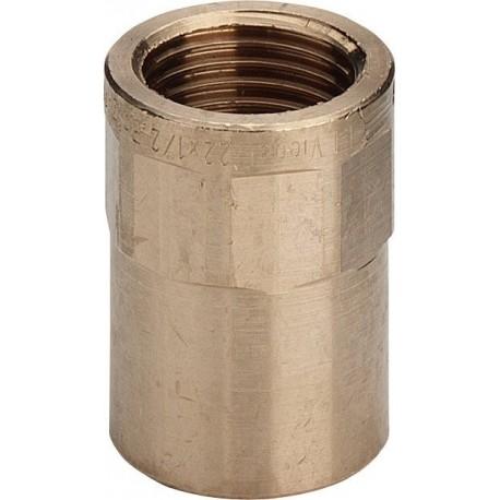 "94270G nipple filettatura Rp ø22x1/2""F bronzo a saldare 101664 - A saldare per tubo rame"