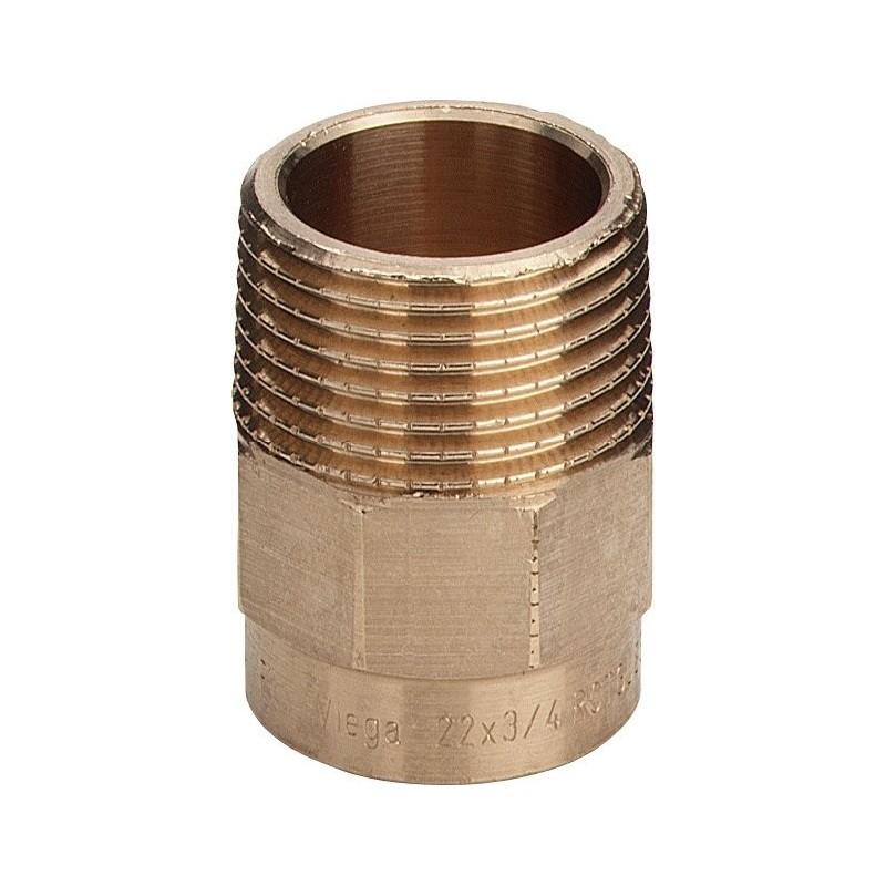 "94243G nipple filettatura Rp ø28x3/4""M bronzo a saldare 102913 - A saldare per tubo rame"