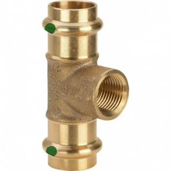 """2217.2 Tee FR ø22x1/2""""Fx22 bronzo a pressare 115944 - A pressare in rame/bronzo per acqua"""
