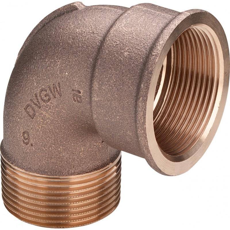 "3092 gomito 90° ø1/2""MF bronzo 264024 - In bronzo filettati"