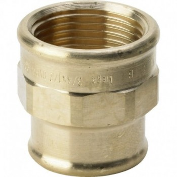 """3240 raccordo manicotto di riduzione ø1""""Fx3/4""""F bronzo 266356"""