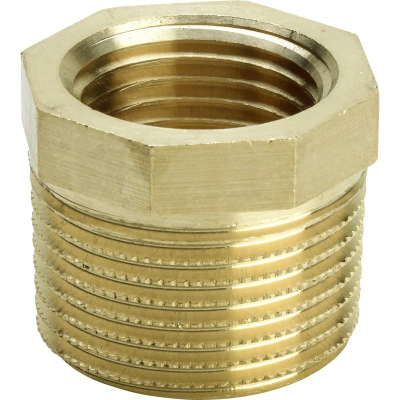 """3241 raccordo manicotto di riduzione ø1""""Mx1/2""""F bronzo lucido 266486 - In bronzo filettati"""