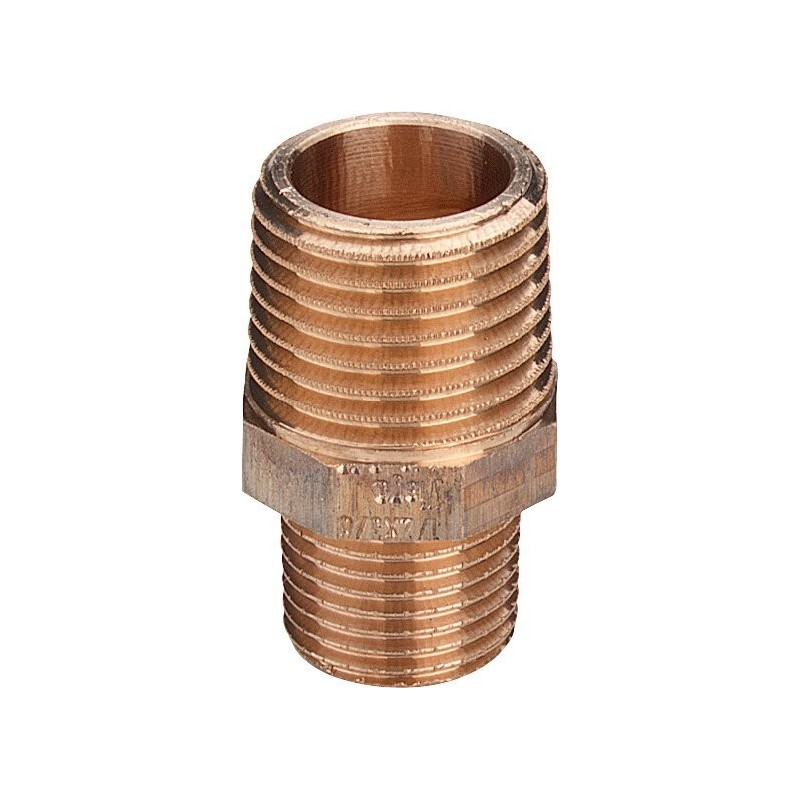 "3245 raccordo nipple RID. ø1""Mx3/4""M bronzo 266547 - In bronzo filettati"