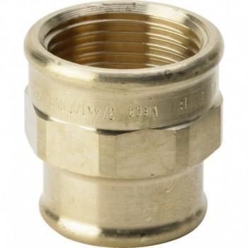 """3240 raccordo manicotto di riduzione ø1/2""""Fx3/8""""F bronzo 268879"""