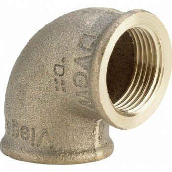 "3090 gomito 90° ø1/2""FF bronzo 269272 - In bronzo filettati"