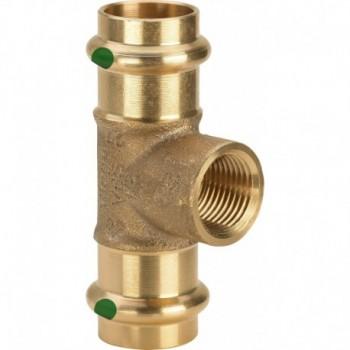 """2217.2 Tee FR ø18x1/2""""Fx18 bronzo a pressare 281359 - A pressare in rame/bronzo per acqua"""