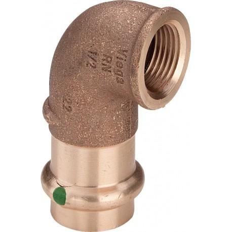 """2214.2 gomito 90° FR ø22x3/4""""F bronzo a pressare 283711 - A pressare in rame/bronzo per acqua"""