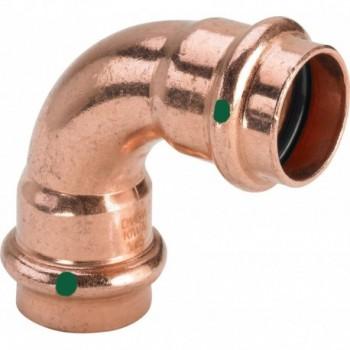2416 curva 90° FF ø28 rame a pressare 291525 - A pressare in rame/bronzo per acqua
