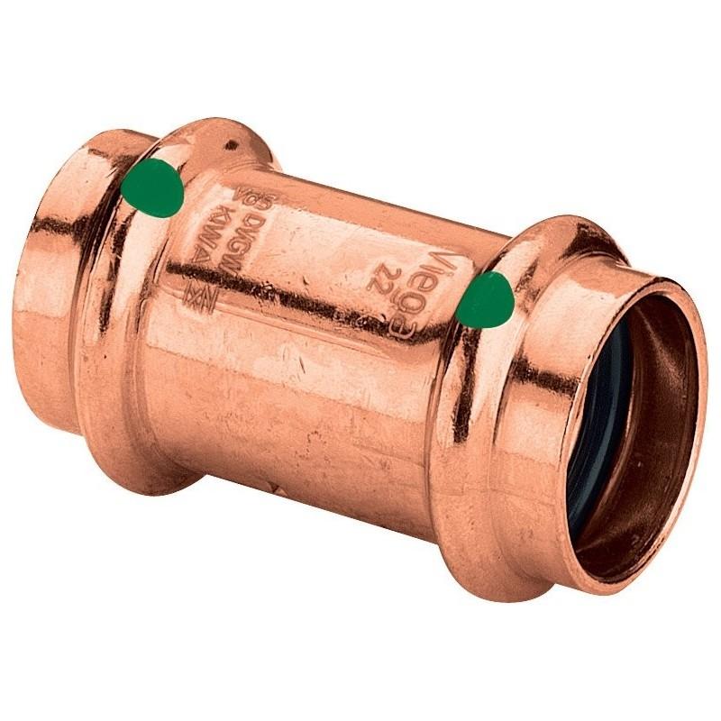 2415 manicotto con battente FF ø15 rame a pressare 292690 - A pressare in rame/bronzo per acqua