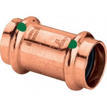 2415 manicotto con battente FF ø35 rame a pressare 292706 - A pressare in rame/bronzo per acqua