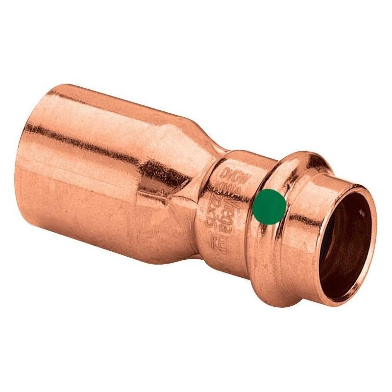 2415.1 riduzione mf ø22x18 rame press. 296391 - A pressare in rame/bronzo per acqua