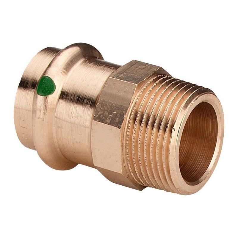"""2211 raccordo nipple filettatura Rp ø28x3/4""""M bronzo a pressare 297954 - A pressare in rame/bronzo per acqua"""