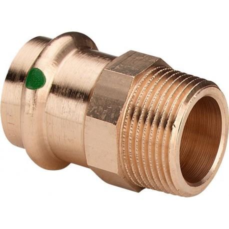 """2211 raccordo nipple filettatura Rp ø22x1/2""""M bronzo a pressare 297961 - A pressare in rame/bronzo per acqua"""