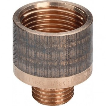 """3242 raccordo manicotto di riduzione ø1/2""""Mx1""""F bronzo lucido 320430"""