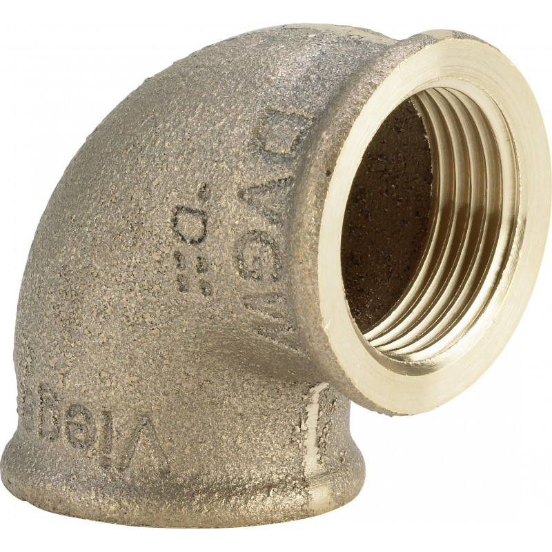 "3090 gomito 90° ø3/4""Fx1/2""F bronzo 320669 - In bronzo filettati"