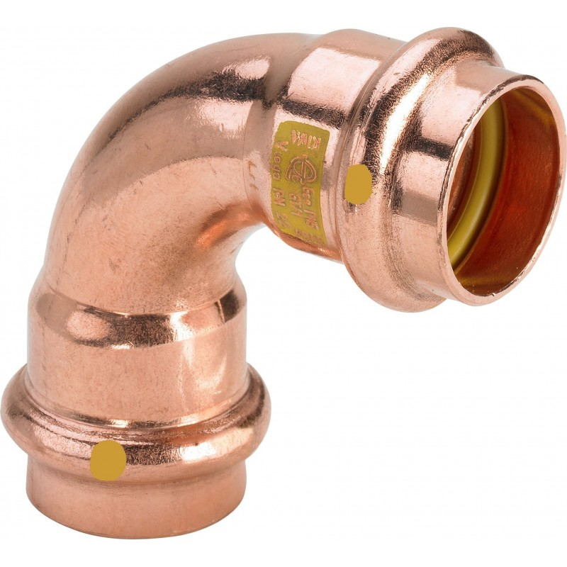 2616 curva 90° FF ø22 rame a pressare gas 345488 - A pressare in rame/bronzo per gas