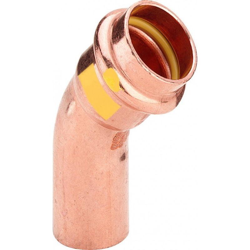 2626.1 curva 45° MF ø28 rame a pressare gas 345709 - A pressare in rame/bronzo per gas