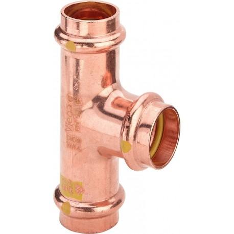 2618 Tee F. ø28 rame a pressare gas 345969 - A pressare in rame/bronzo per gas