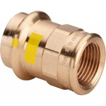 "2612 raccordo nipple filettatura Rp ø22x1/2""F bronzo X gas 346416 - A pressare in rame/bronzo per gas"