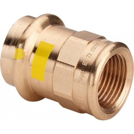 "2612 raccordo nipple filettatura Rp ø22x3/4""F bronzo X gas 346423 - A pressare in rame/bronzo per gas"