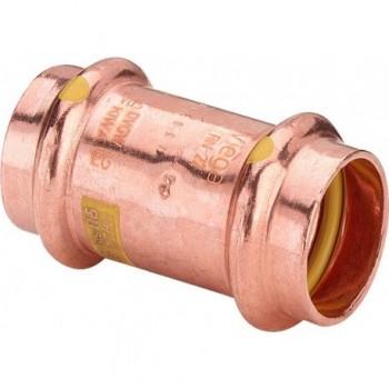 2615 manicotto con battente FF ø28 rame a pressare gas 346515 - A pressare in rame/bronzo per gas