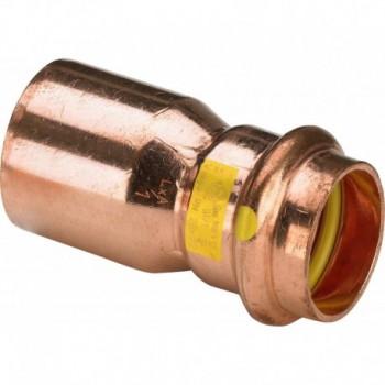 2615.1 riduzione MF ø22x18 rame a pressare gas 346577 - A pressare in rame/bronzo per gas