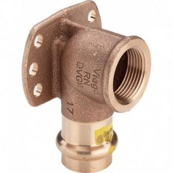 """2625.5 gomito 90° FR+FL. ø18x1/2""""F bronzo X gas 346690 - A pressare in rame/bronzo per gas"""