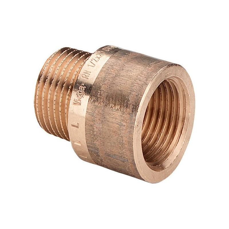 """3525 prolunga MF ø1/2""""xL.40mm bronzo 355005 - In bronzo filettati"""