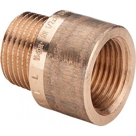 """3525 prolunga MF ø3/4""""xL.50mm bronzo 357252 - In bronzo filettati"""
