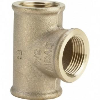 """3130 Tee RID. F. ø3/4""""Fx3/4""""Fx1/2""""F bronzo 362508 - In bronzo filettati"""