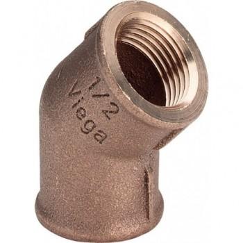 """3120 curva 45° ø1""""FF bronzo 320652 - In bronzo filettati"""