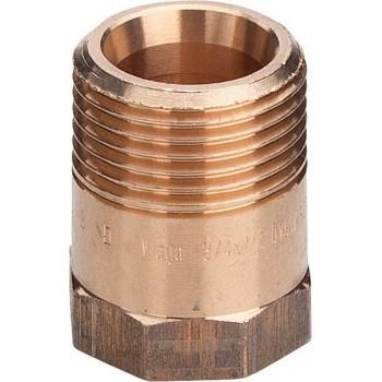 """3243 manicotto di riduzione con cono ø1/2""""x3/8""""MF bronzo 446666"""