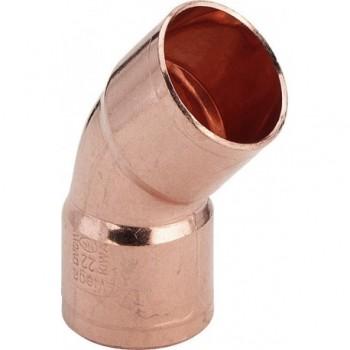 95041 curva 45° FF ø22 rame a saldare 100704 - A saldare per tubo rame