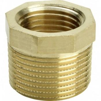 """3241 raccordo manicotto di riduzione ø1/2""""Mx1/4""""F bronzo lucido 319076"""