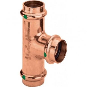 2418 TEE RID. F. ø42x35x42 RAME PRESS. 292065 - A pressare in rame/bronzo per acqua