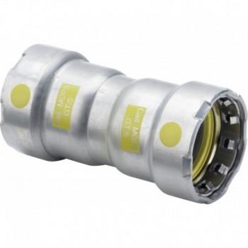 Manicotto con battente Megapress G 738631 - A pressare in acciaio