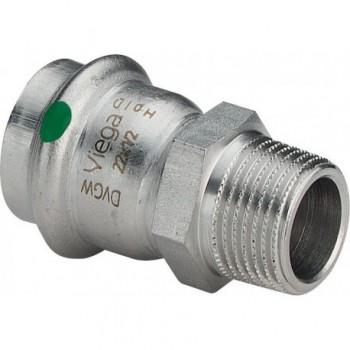 "2311 MANIC. MISTO MF ø22x1/2""M INOX PRESS. 436483 - A pressare inox per acqua"