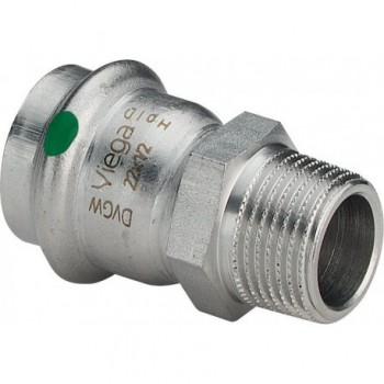 "2311 MANIC. MISTO MF ø22x3/4""M INOX PRESS. 436490 - A pressare inox per acqua"