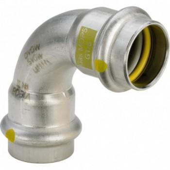 0216 CURVA 90° FF ø22 SANPRESS INOX G 485801 - A pressare inox per gas